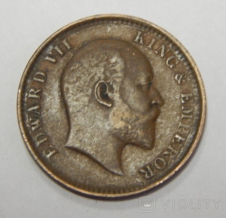 1/4 анна, 1907 г Индия, фото №3