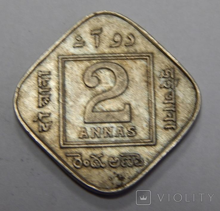 2 анна, 1918 г Индия, фото №2