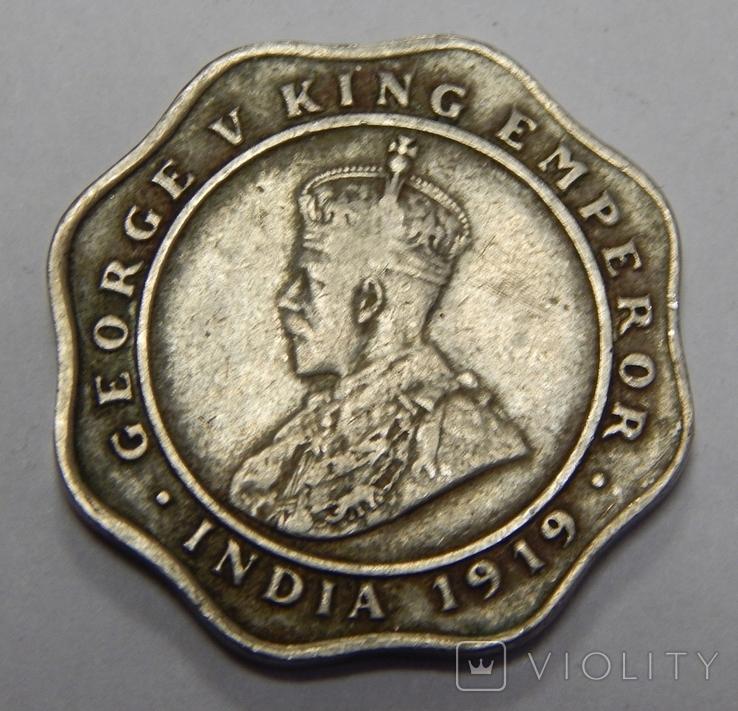 4 анна, 1919 г Индия, фото №3