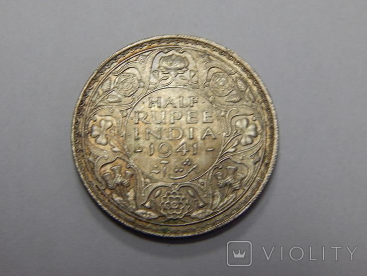 1/2 рупии, 1941 г Индия, фото №2