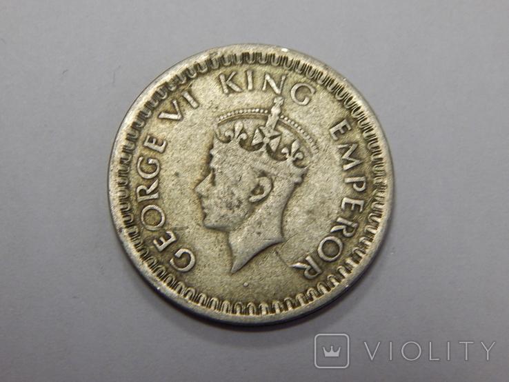 1/2 рупии, 1942 г Индия, фото №3