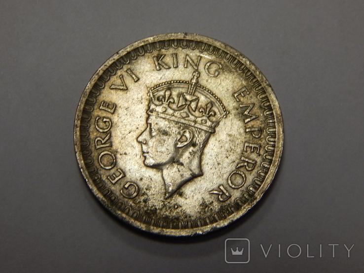 1/2 рупии, 1945 г Индия, фото №3