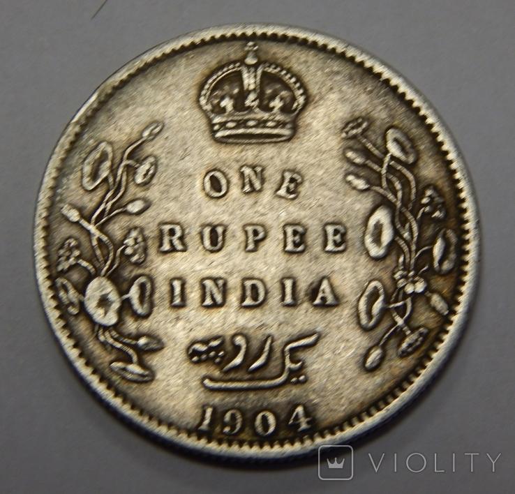 1 рупия, 1904 г Индия, фото №2
