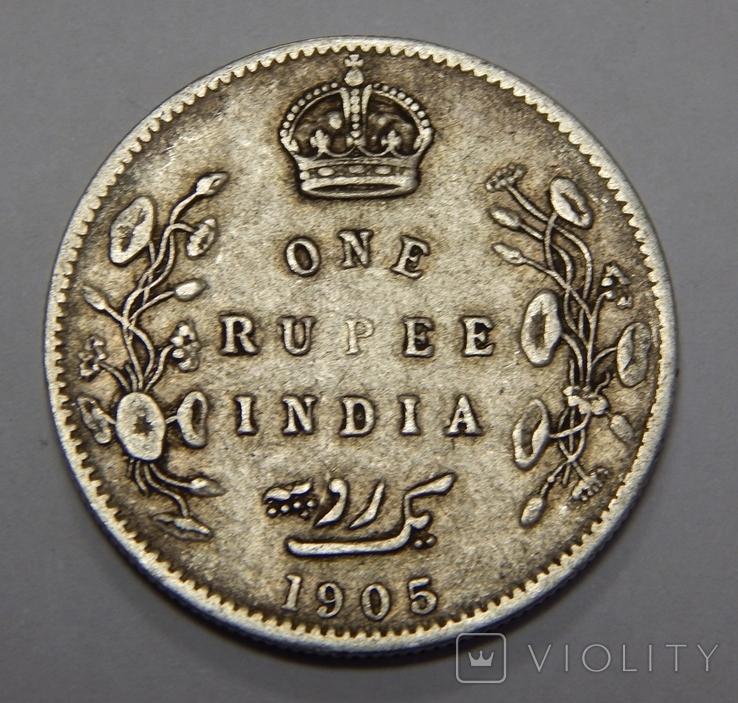 1 рупия, 1905 г Индия, фото №2
