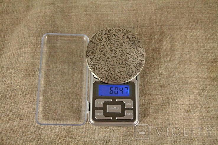 Старинная пудреница 800 проба, 60 грамм, фото №7