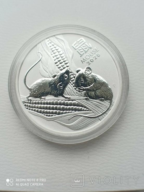 1-а в серії Lunar III Рік Миші 2020 1 унція срібла Австралія, фото №6