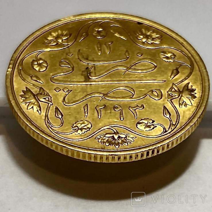 100 пиастров. Османский Египет. Abdul Hamid II 1293/12 AH  1876. (вес 8,49 г), фото №8