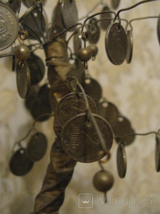 Сувенир Денежное дерево с монетами украинскими, фото №3