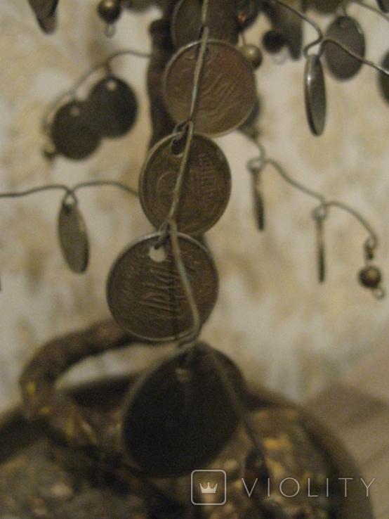 Сувенир Денежное дерево с монетами украинскими, фото №4