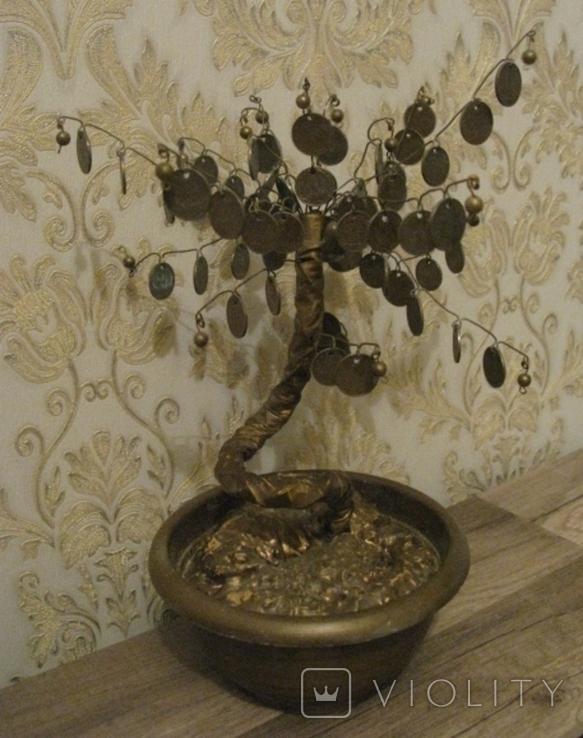 Сувенир Денежное дерево с монетами украинскими, фото №5