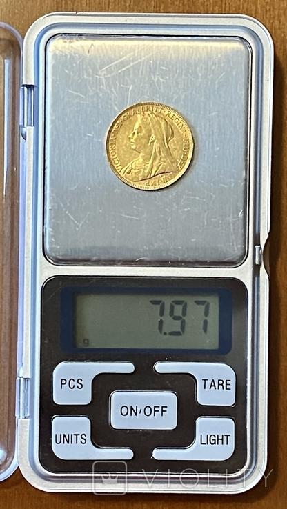 1 фунт (соверен). 1894. Виктория I. Великобритания (золото 917, вес 7,97 г), фото №10