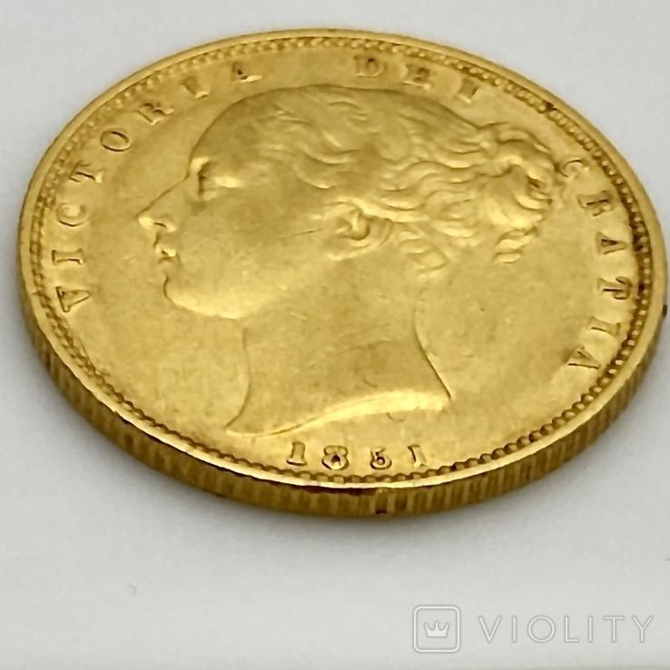 1 фунт (соверен). 1851. Великобритания (золото 917, вес 7,96 г), фото №7