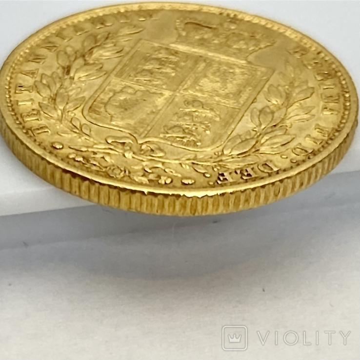 1 фунт (соверен). 1851. Великобритания (золото 917, вес 7,96 г), фото №9