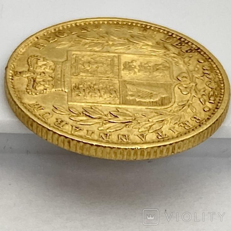 1 фунт (соверен). 1851. Великобритания (золото 917, вес 7,96 г), фото №10