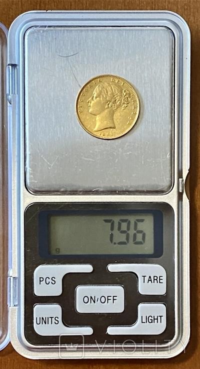 1 фунт (соверен). 1851. Великобритания (золото 917, вес 7,96 г), фото №11