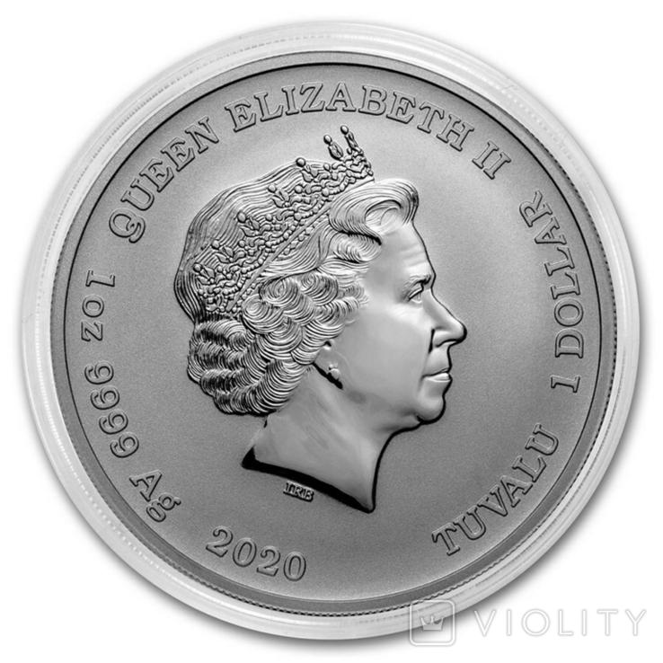 Королевская удача 1 доллар 2020 Серебро 1oz 999,9, фото №5