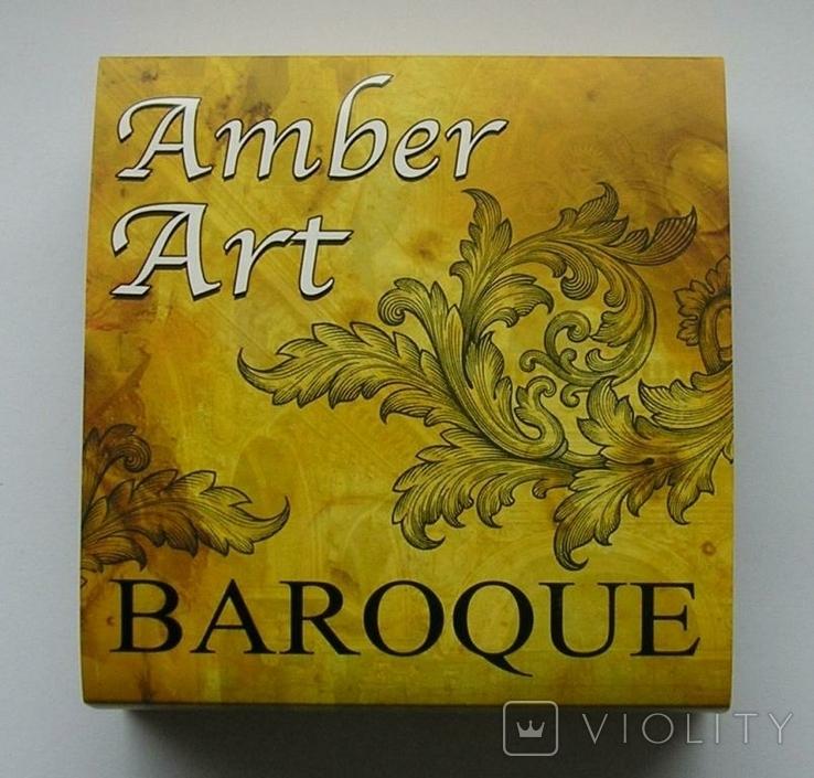 Ниуэ 5 долларов 2016 Amber Art Baroque серебро 2 OZ silver Niue Барокко Искусство янтарь, фото №6