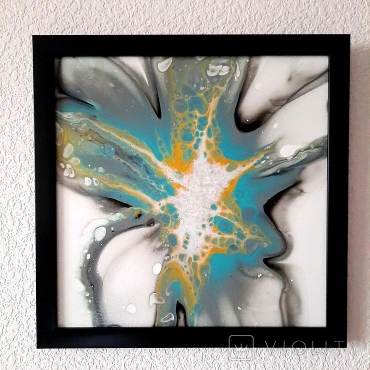 Картина живопис абстракція Fluid Art #27 acrylic, фото №9