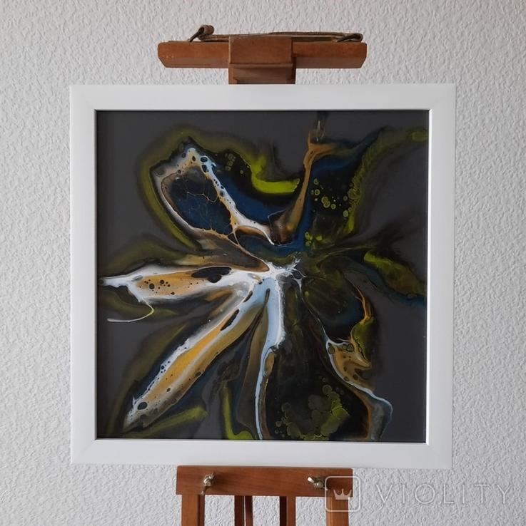 Картина живопис абстракція Fluid Art #28 acrylic, фото №3