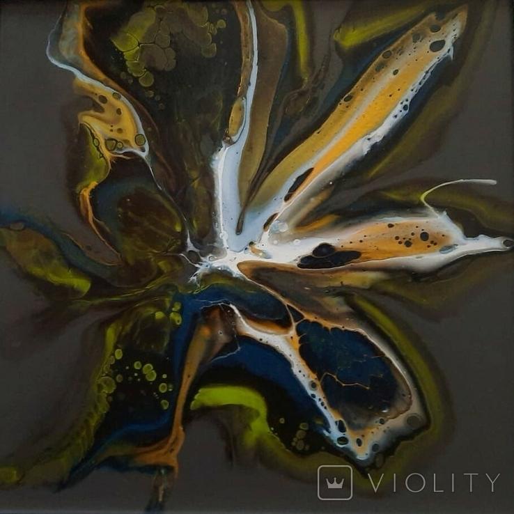 Картина живопис абстракція Fluid Art #28 acrylic, фото №6