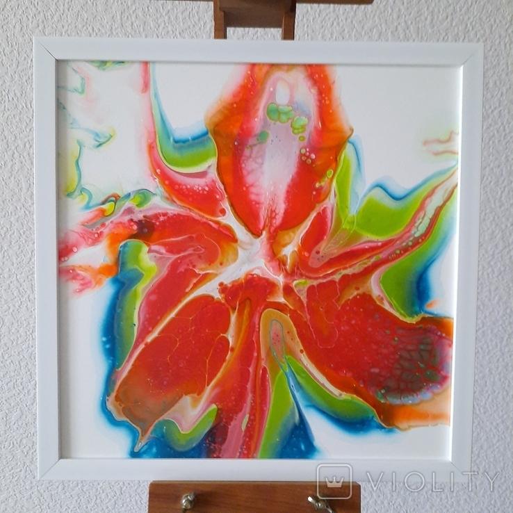 Картина живопис абстракція Fluid Art #29 acrylic, фото №2