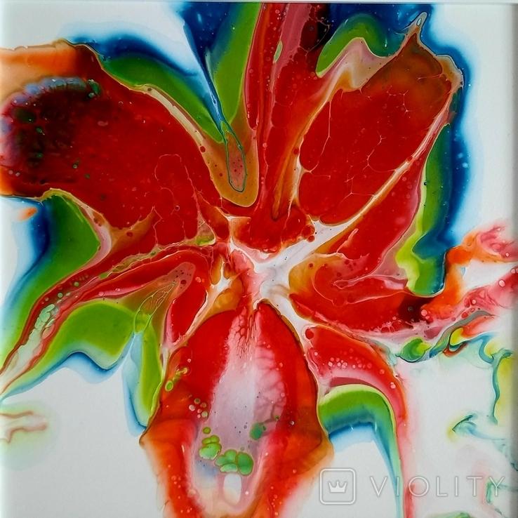 Картина живопис абстракція Fluid Art #29 acrylic, фото №9