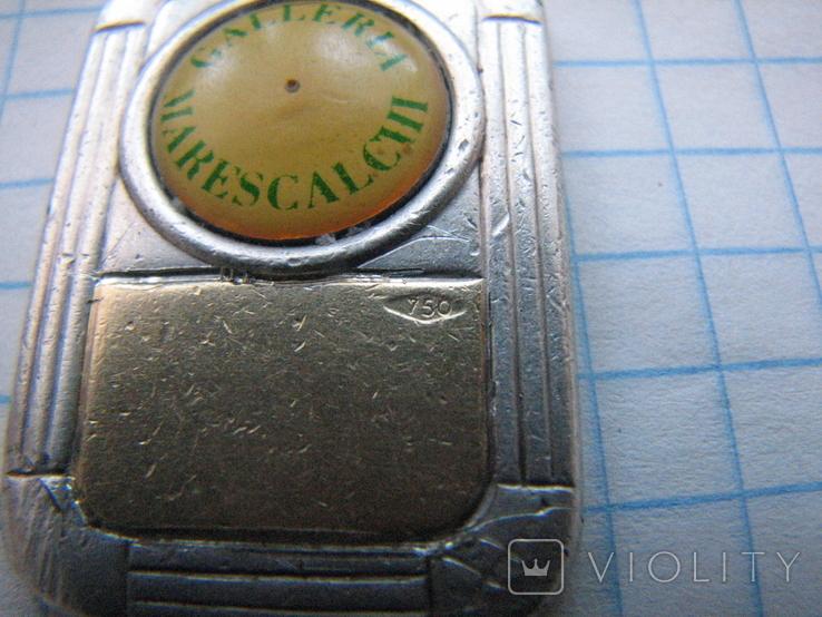 Брелок Galleria Marescalchi серебро 925 и вставка золото 750., фото №11