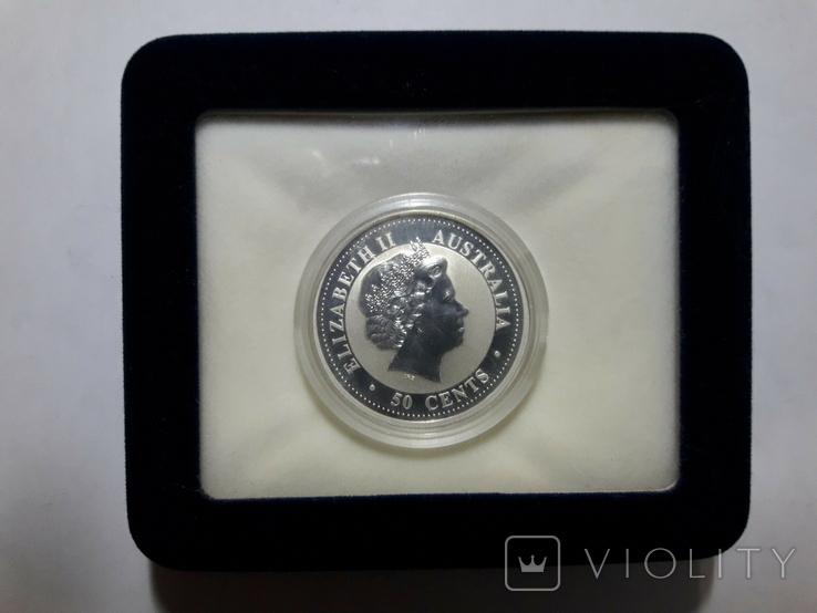 "Монета 50 центов Австралия ""Год свиньи"", 2007 го, серебро, фото №4"