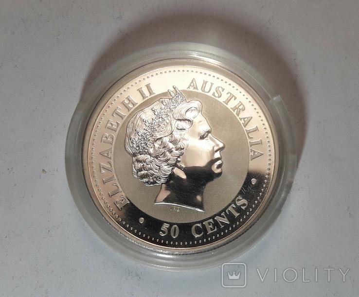 "Монета 50 центов Австралия ""Год свиньи"", 2007 го, серебро, фото №7"