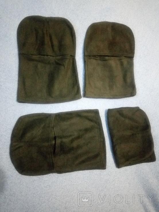 Балаклава флис олива маска подшлемник шапка, фото №3