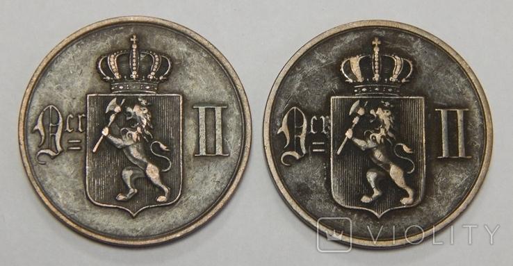 2 монеты по 5 оре, 1976 г Норвегия, фото №3