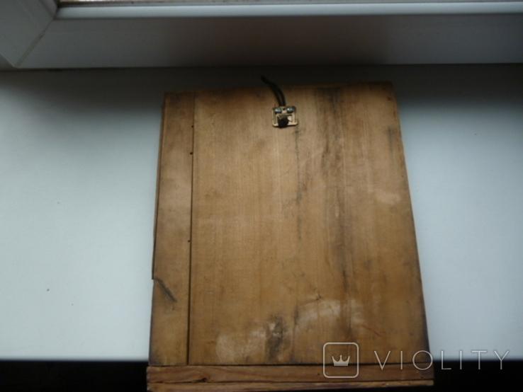 Икона в латунном окладе. Господь Вседержитель. . 22 см х 27 см. Россоя., фото №8