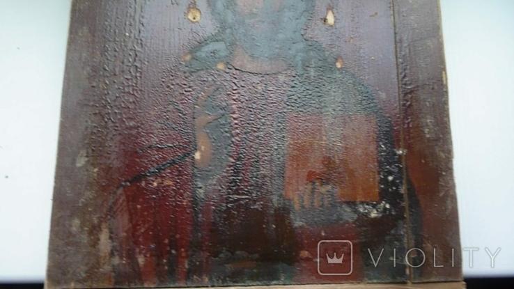 Икона в латунном окладе. Господь Вседержитель. . 22 см х 27 см. Россоя., фото №12