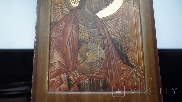 Икона Архангел Михаил Ковчег. Школьное письмо. 30 см х 40 см., фото №4