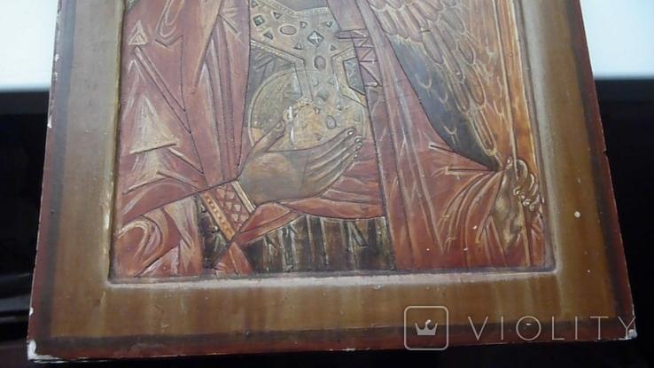 Икона Архангел Михаил Ковчег. Школьное письмо. 30 см х 40 см., фото №11