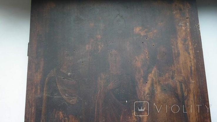 Икона Три Святых. 31 см х 38 см., фото №4
