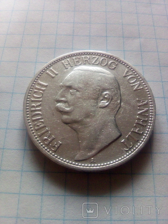 3 марки 1909 Анхальт, фото №2