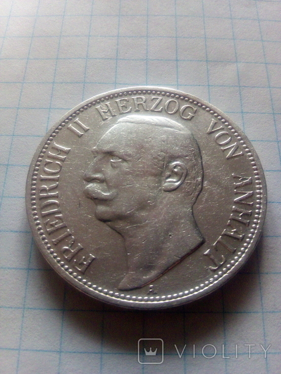 3 марки 1909 Анхальт, фото №3