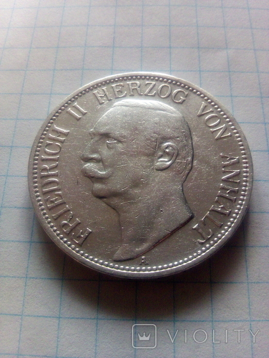 3 марки 1909 Анхальт, фото №4