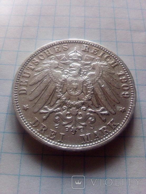 3 марки 1909 Анхальт, фото №5
