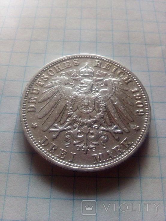 3 марки 1909 Анхальт, фото №6
