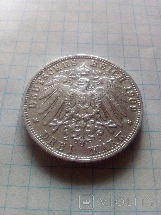 3 марки 1909 Анхальт, фото №7