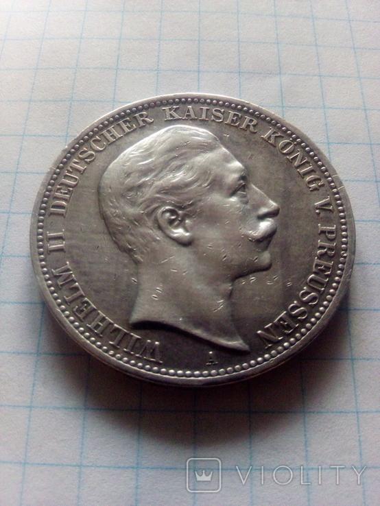 3 марки 1909 Прусія, фото №2