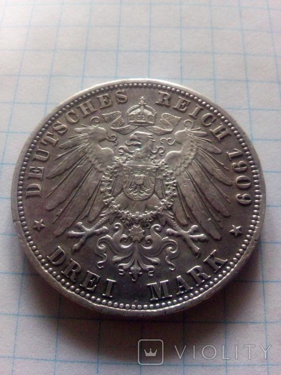 3 марки 1909 Прусія, фото №6