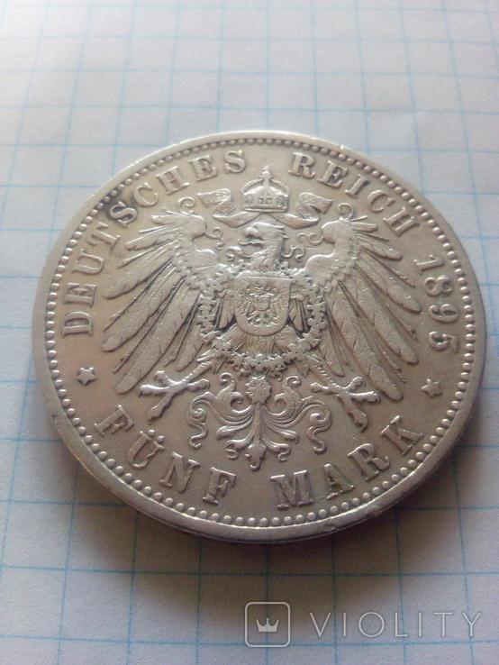 5 марок 1895 Прусія, фото №5