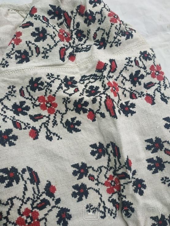 Сорочка вышиванка Миргородская конопляная полотняная старинная женская рубаха., фото №6