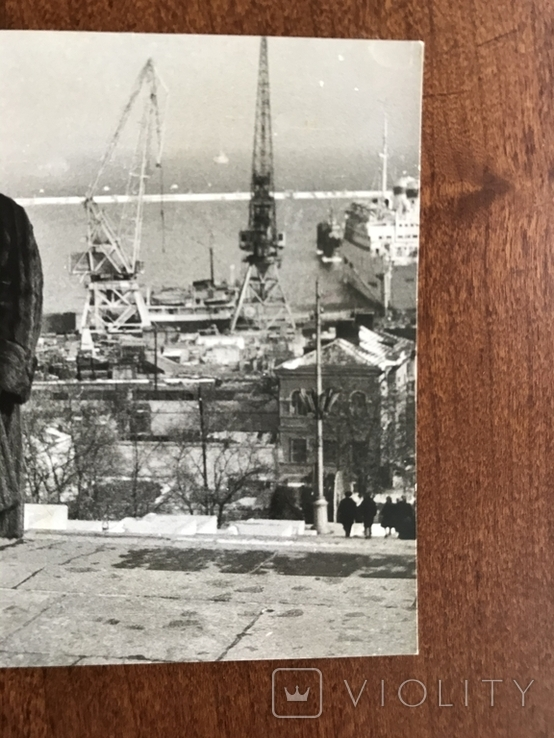 Одесса Дама в шубе Порт Краны, фото №4
