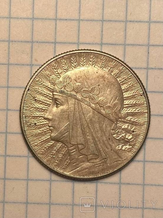 5 злотых 1933,2 злотых 1932 Польша серебро Королева Ядвига знак монетного двора, фото №2