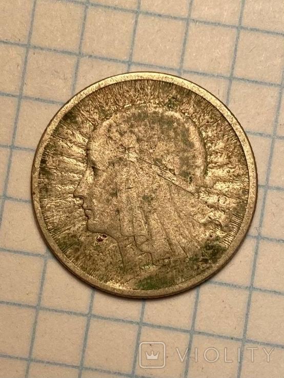 5 злотых 1933,2 злотых 1932 Польша серебро Королева Ядвига знак монетного двора, фото №4