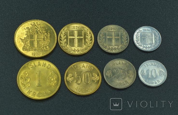 Исландия, набор монет 1970-х годов, фото №3
